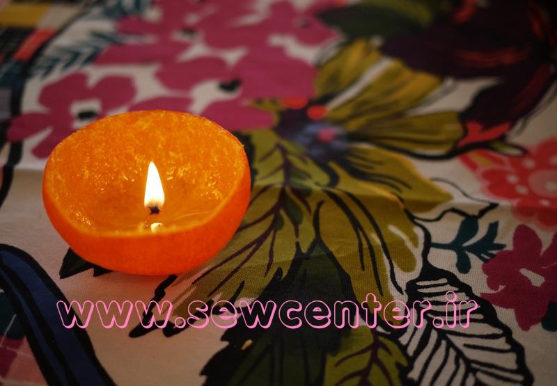 آموزش ساخت شمع با پوست نارنگی